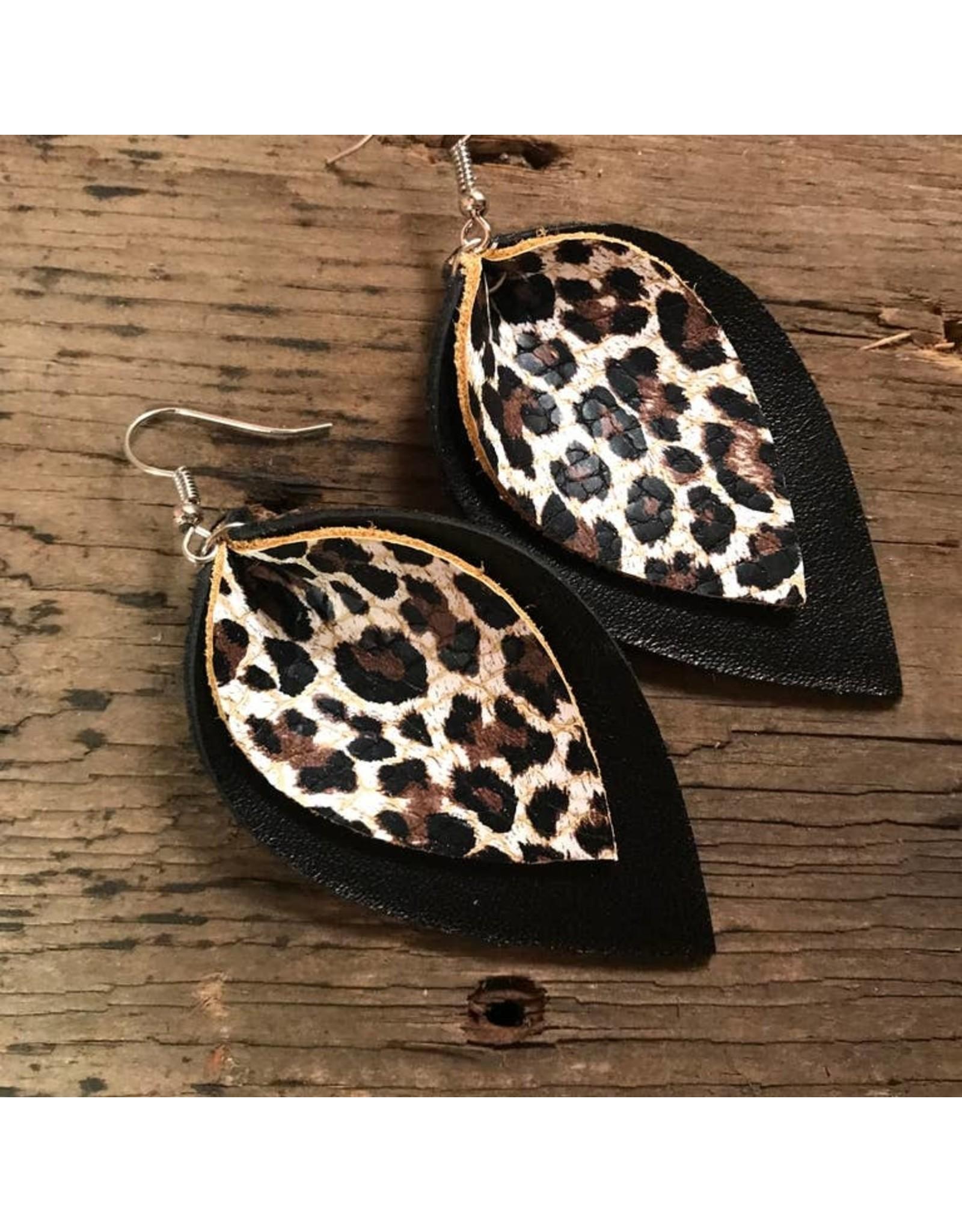 Jill's Jewels E/R- Black/Leopard Leather