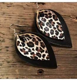 Jill's Jewels E/R- Black/Leopard Leather