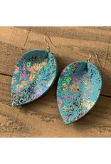 Jill's Jewels E/R- Blue Holographic Leather