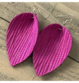 Jill's Jewels E/R- Magenta Palm Leather