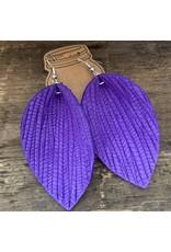 Jill's Jewels E/R- Purple Palm Leather