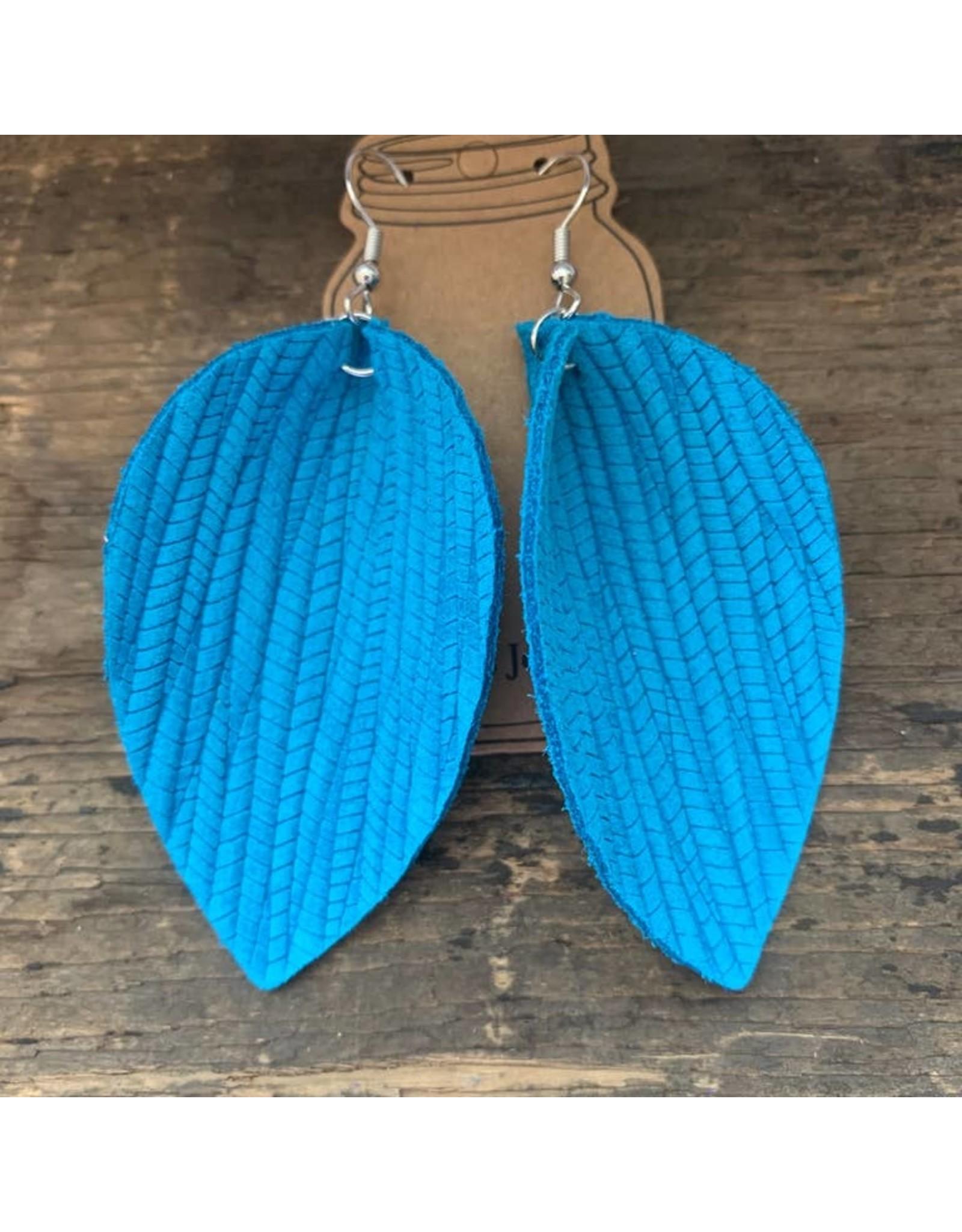 Jill's Jewels ER- Blue Palm Leather