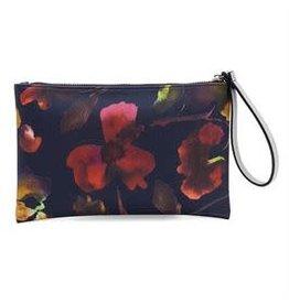 Monarque Navy Floral Wristlet