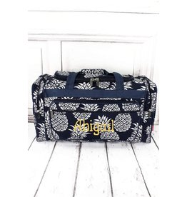Wholesale Accessory Market Tote- Pineapple Navy Quilted LG