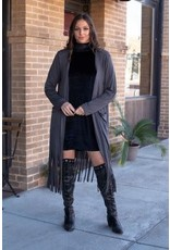 Lucky & Blessed Granite Long Fringe Duster
