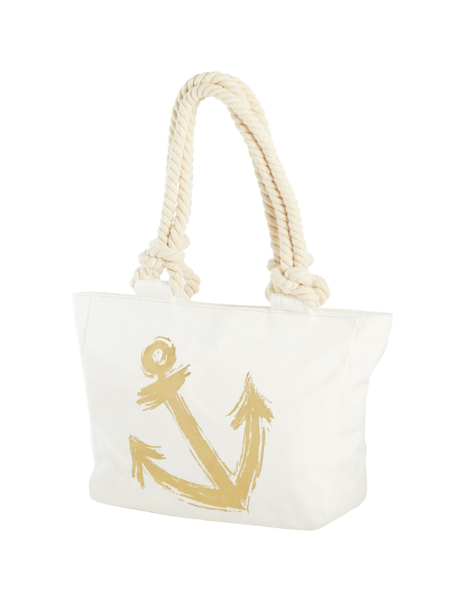 Beachcombers Tote- Gold Anchor