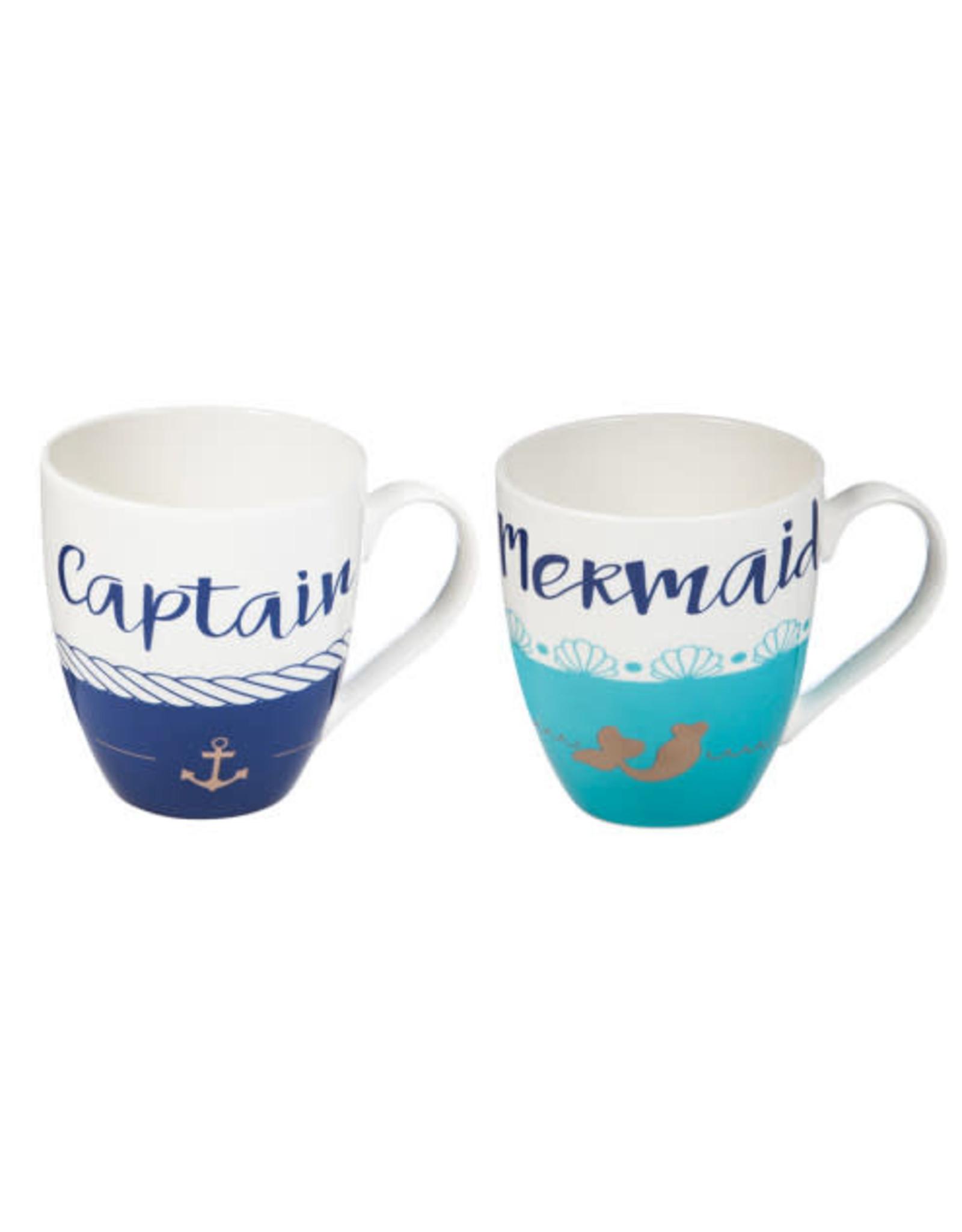 Captain & Mermaid Cup set 3MCF006