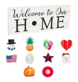 "Evergreen Sign- Interchangeable ""Welcome Home"""