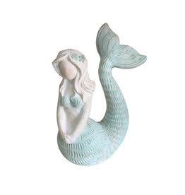 Mermaid Tail Up Teal & White