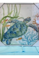 Framed Canvas Tropical Turtle