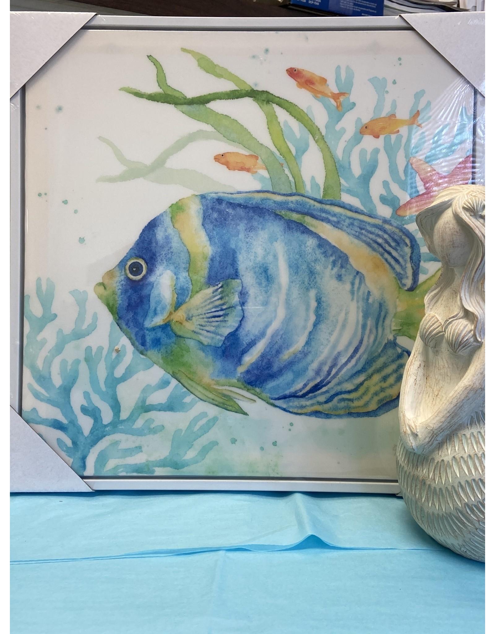 Framed Canvas Tropical Fish