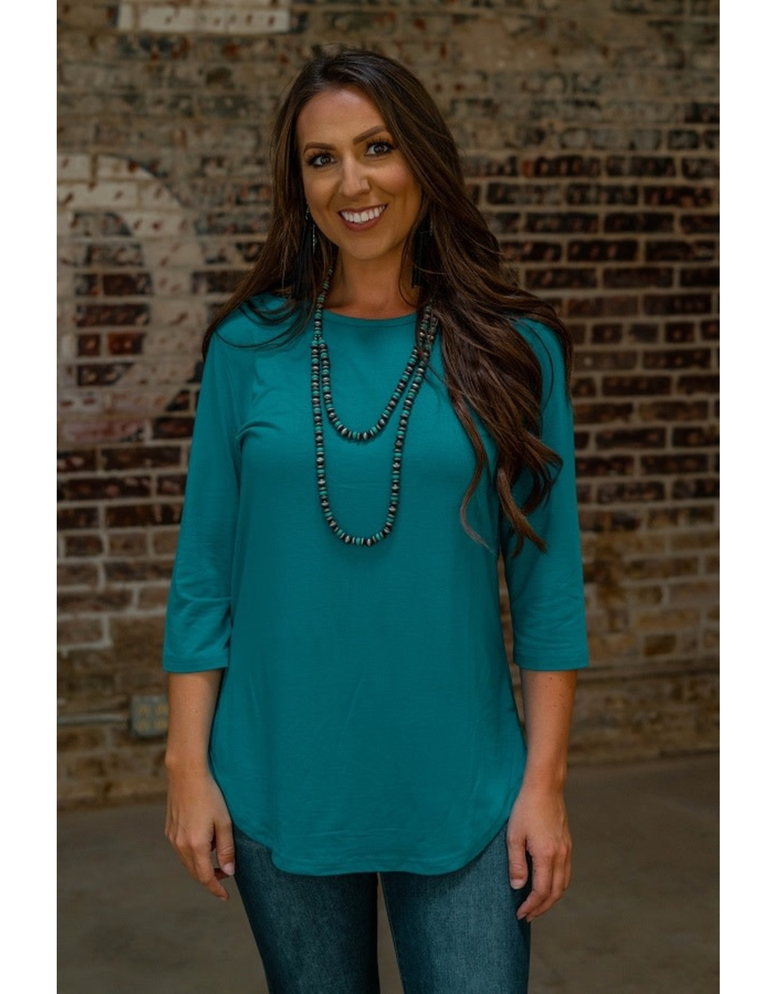 Lucky & Blessed Jade Scoop Top