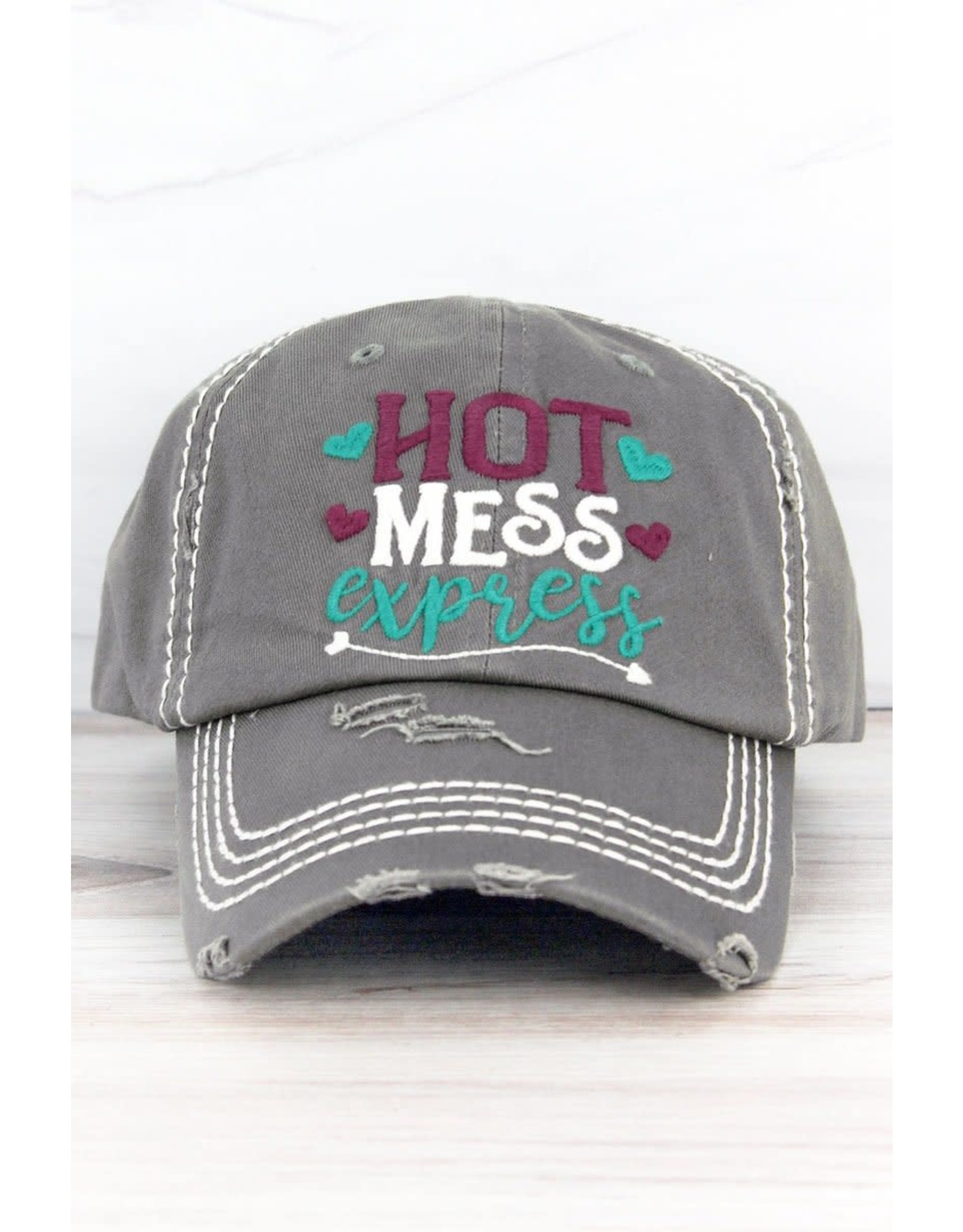 Wholesale Accessory Market Hat- Hot Mess Express Gray