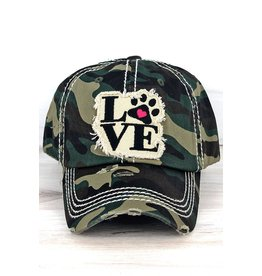 Wholesale Accessory Market Hat- Paw Love Camo