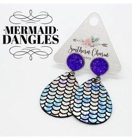 E/R- Purple & Mermaid Dangle