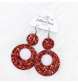 E/R- Glitter Double O's Red