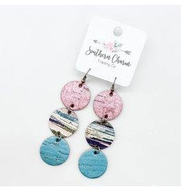E/R- Pink Shimmer Blue & Pink Striped