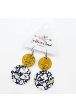 E/R- Yellow & Navy Floral Corkies
