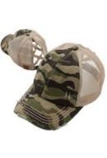 Wholesale Accessory Market Hat- Criss Cross Camo