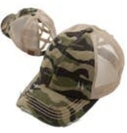 Wholesale Accessory Market Hat- Criss Cross Camo