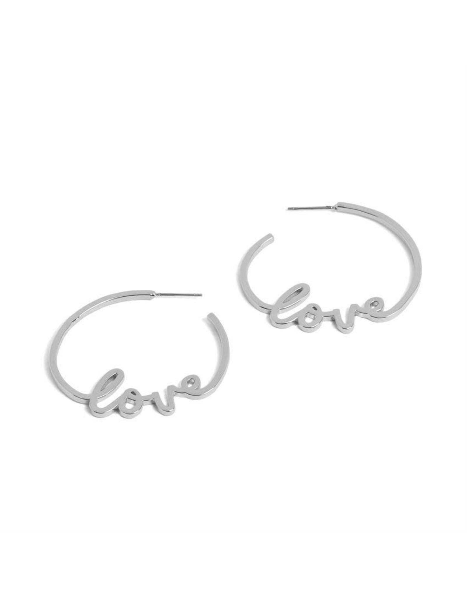 E/R Love Hoop Earrings