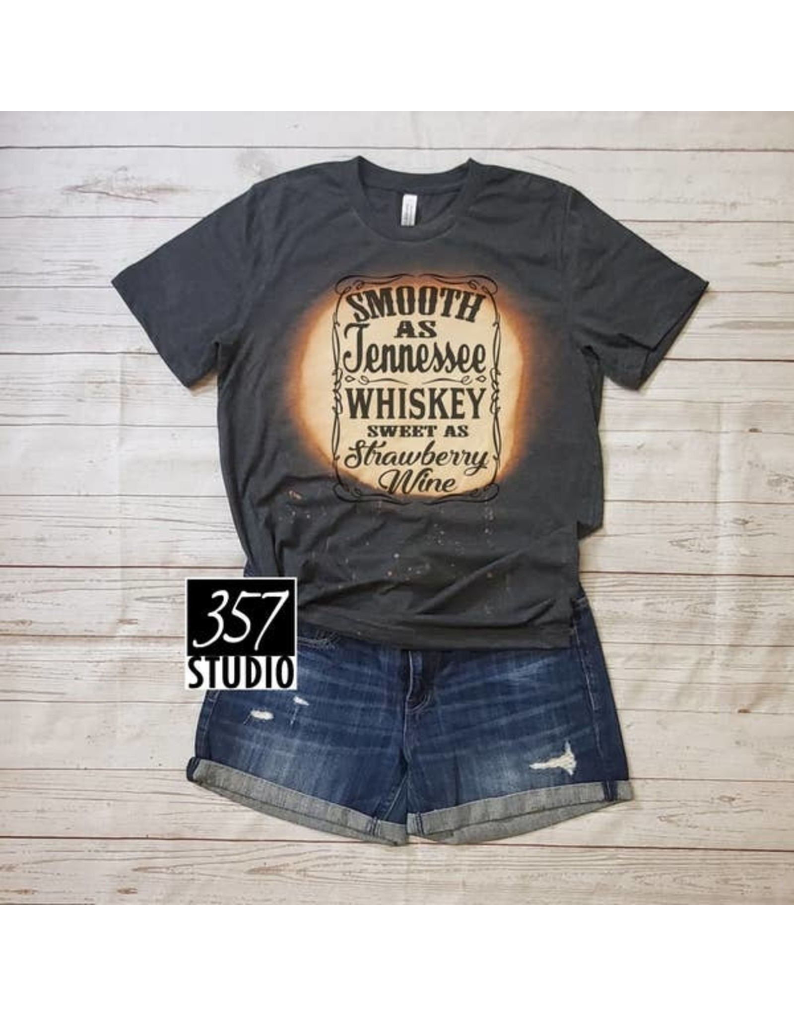 357 Studio Tennessee & Whiskey Tee Bleached