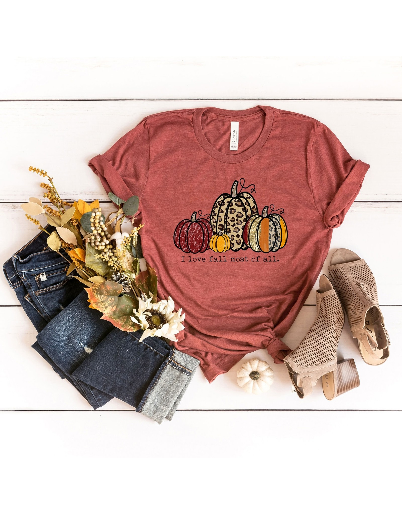 I Love Fall Most of All Tee