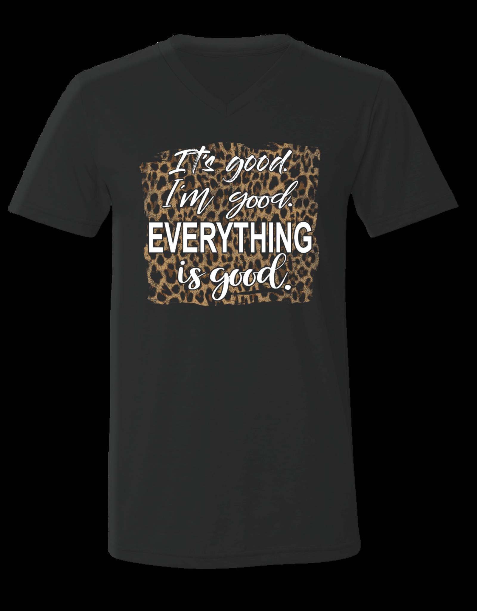 Bella Canvas Leopard It's Good T-shirt