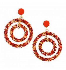 Amber Hoops earrings