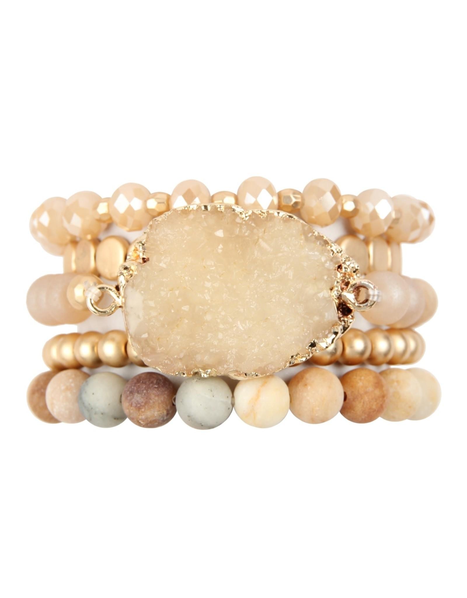 MYS Wholesale Druzy Charm Bracelet
