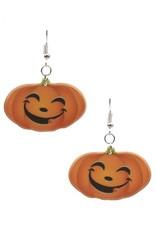 Pumpkin Acrylic Earrings