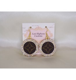 Lost Highway Customs Louis Vuitton Upcycled Earrings