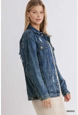 Umgee USA Acid Wash Denim Jacket