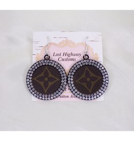 Lost Highway Customs Louis Vuitton Upcycled Earrings Black