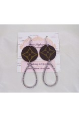 Lost Highway Customs Louis Vuitton Upcycled Earrings CZ Drop