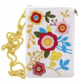 Kids Beaded Floral Purse