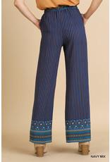 Umgee USA Aztec Print Wide Leg Pant
