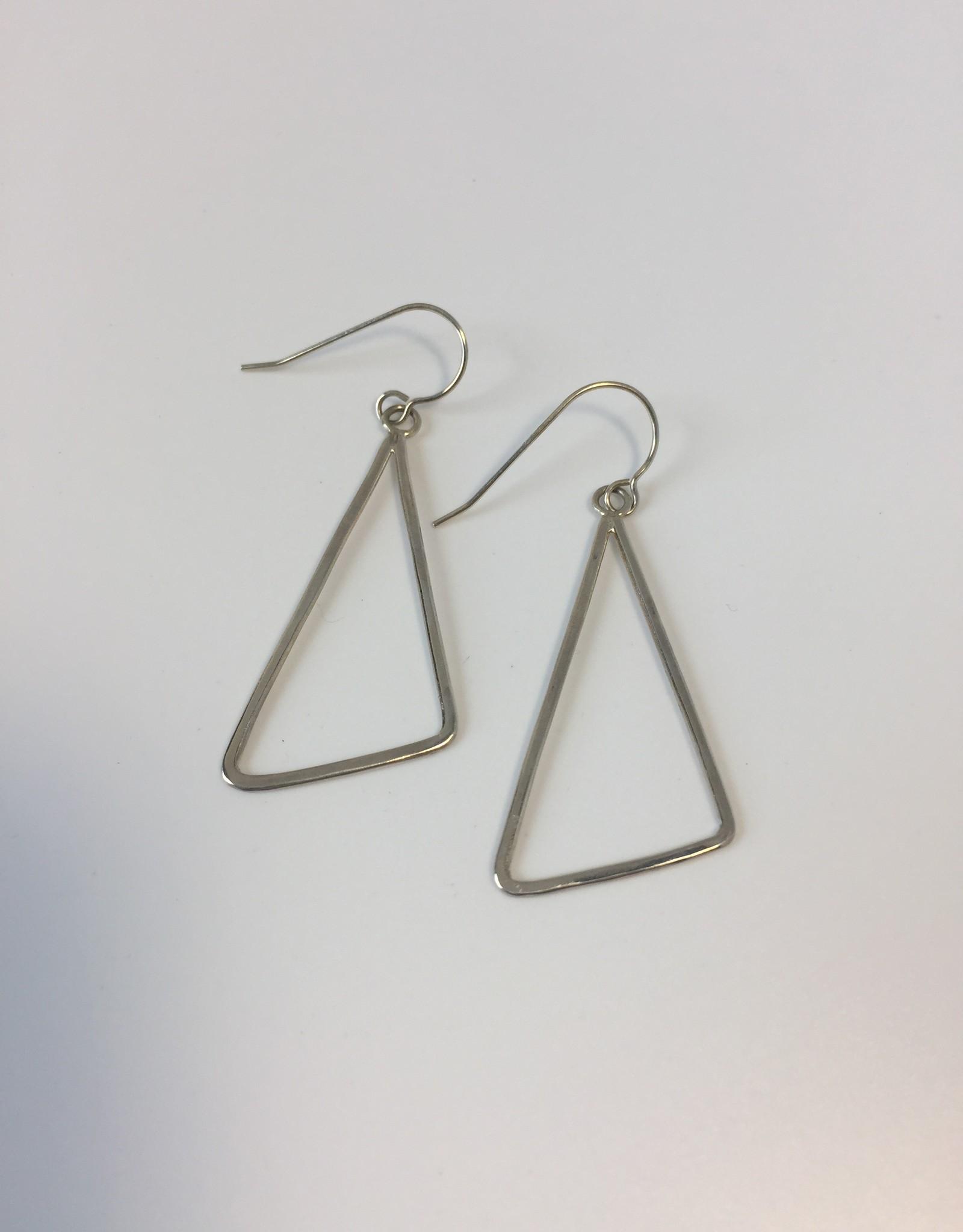 J&I Serling Silver Geometric Earring