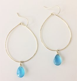 Laura J Designs Sterling Silver Earrings with Gemstone