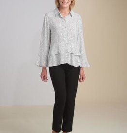 Habitat Double Flounce Polka Dot Top
