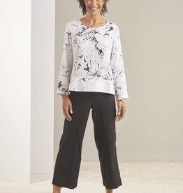 Habitat Splatter Print 3-Button Pullover Top