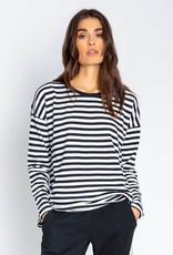 P.J. Salvage French Terrycloth Striped Top