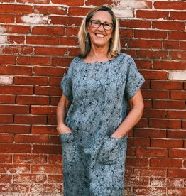 Cut Loose Easy Linen Floral Dress (With Pockets!)