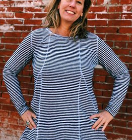 Cut Loose Nautical Striped Tunic with Pockets