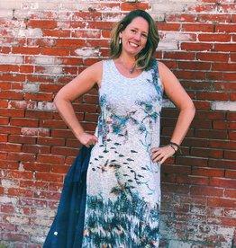 Inoah Dreamy Sleeveless Maxi Dress
