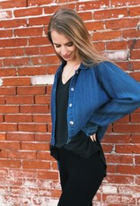 Not Your Mom's Denim Cropped Jacket