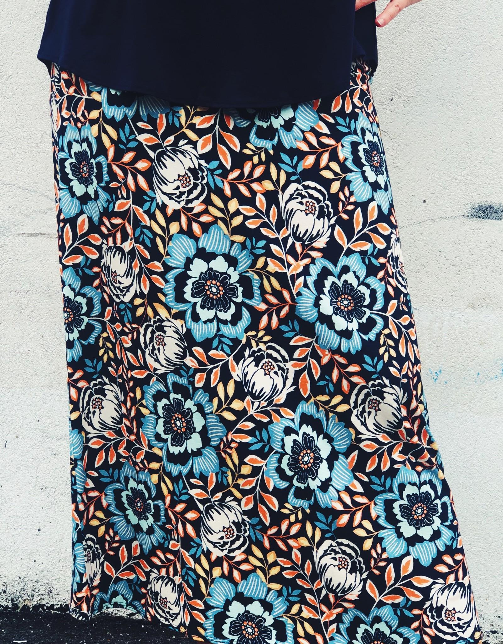 Salaam Long Floral Printed Mia Skirt