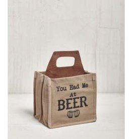 Mona B Upcycled  Printed Beer Caddy