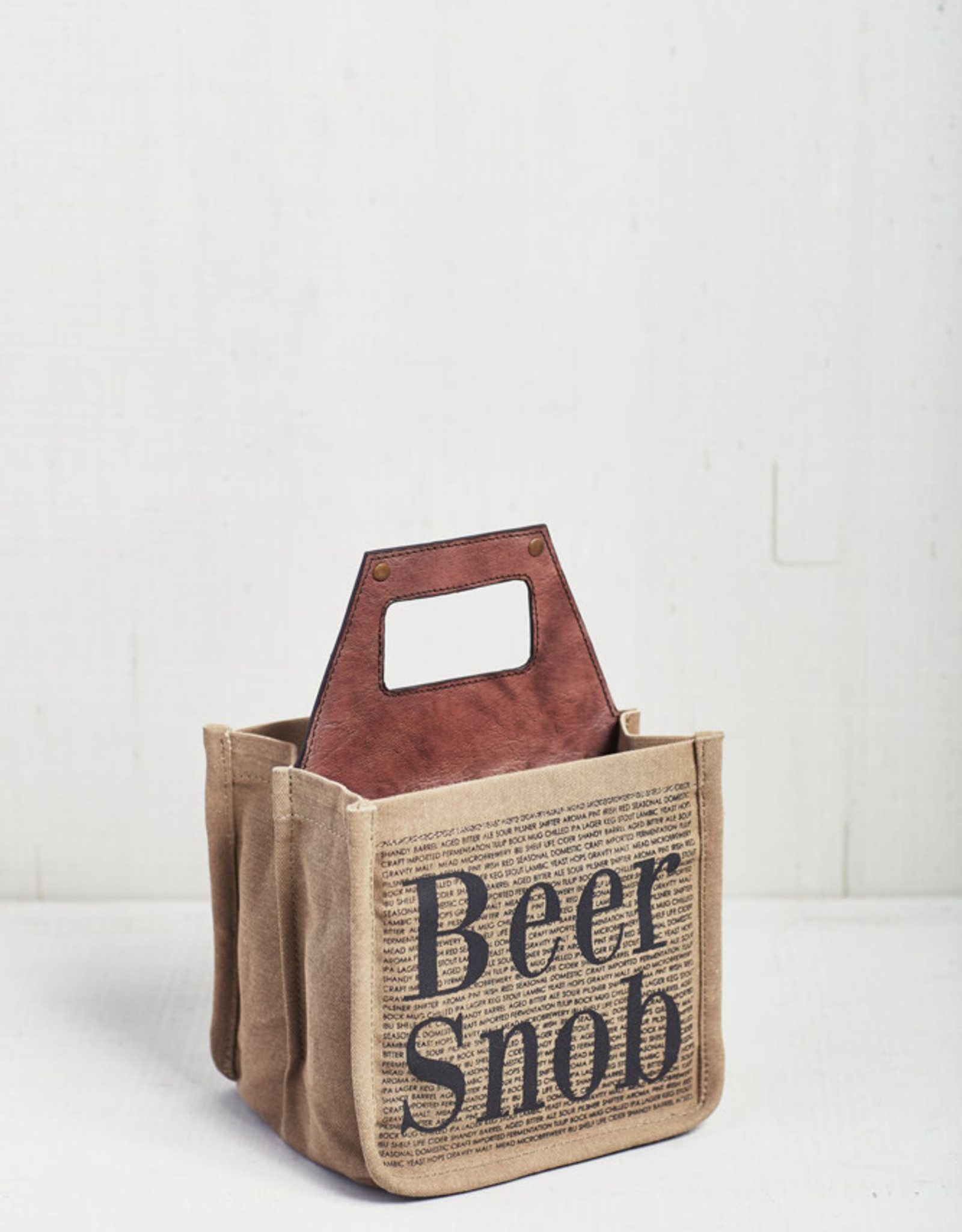 Mona B Upcycled  Printed Beer Caddy