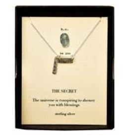 B. U. Sterling Silver 'The Secret' Necklace